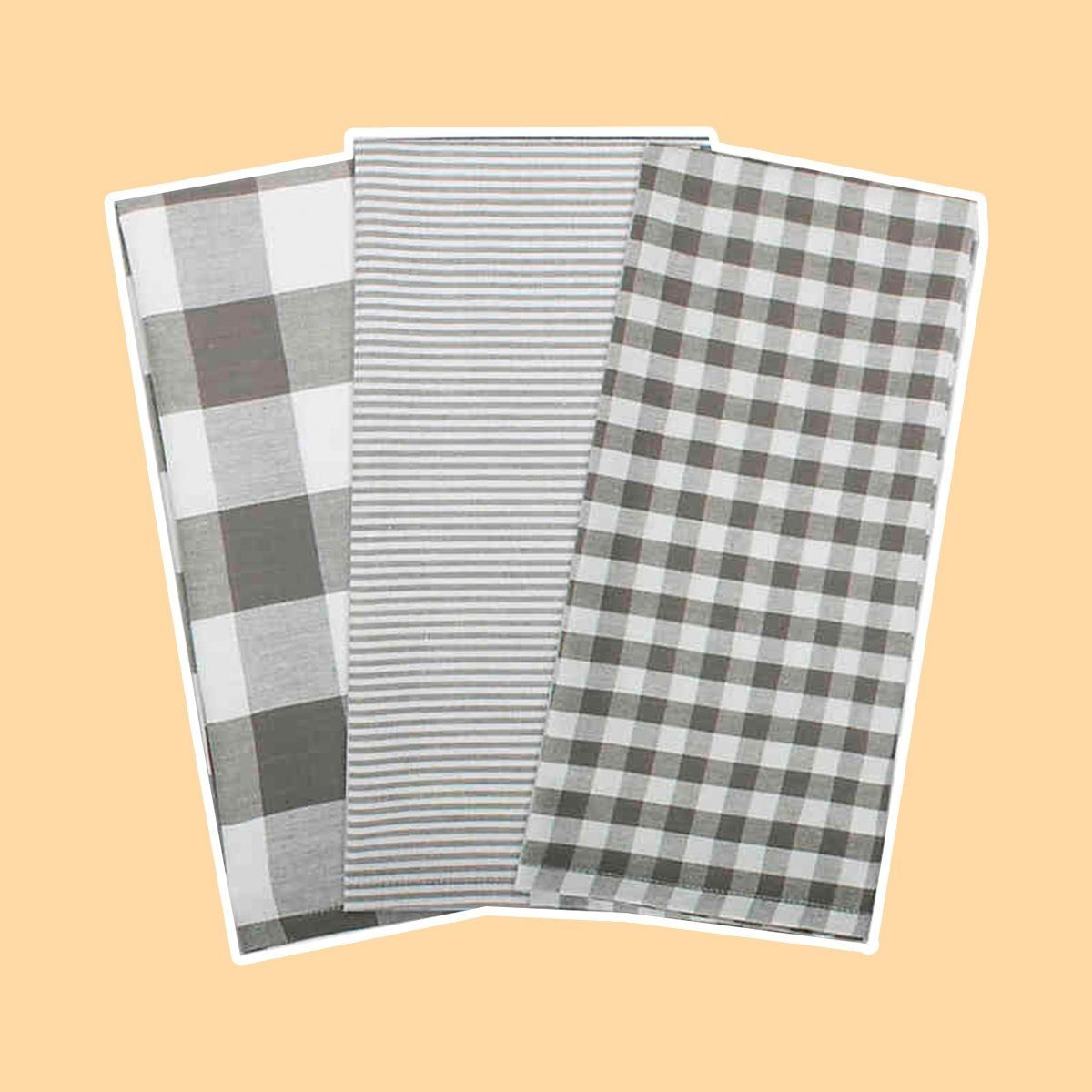 DII Gingham Check Kitchen Towels