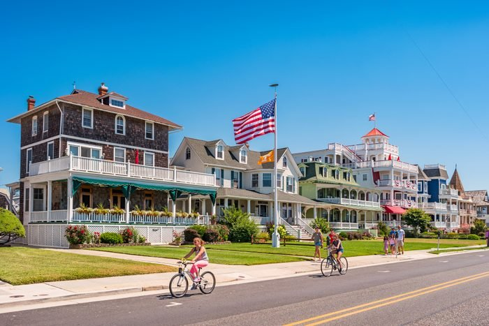 People in Cape May New Jersey USA