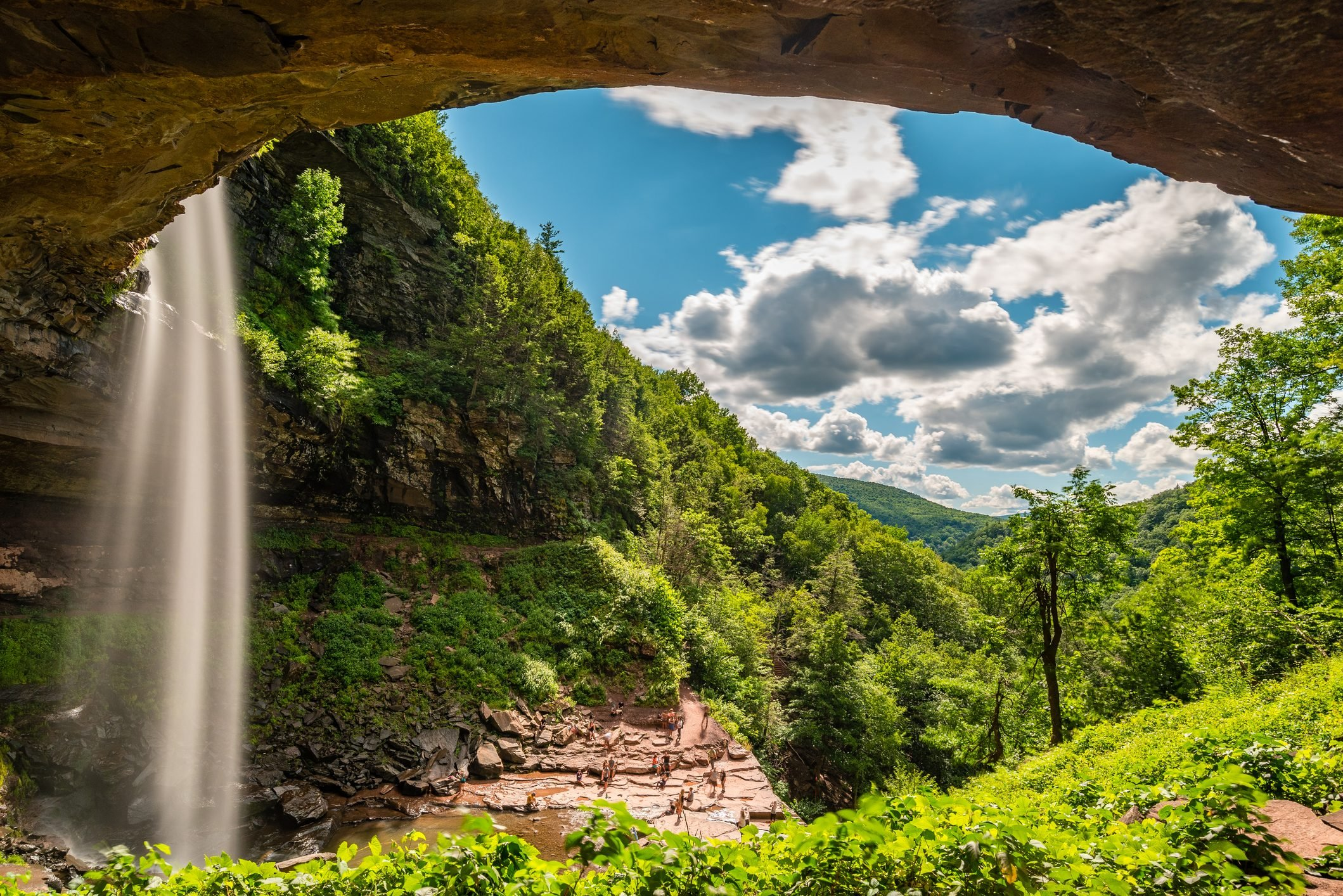 Kaaterskill waterfall in the upstate New York