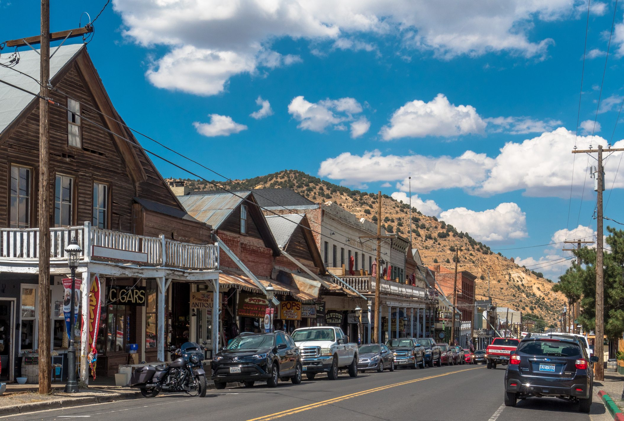 Wooden houses in Virginia City, NV