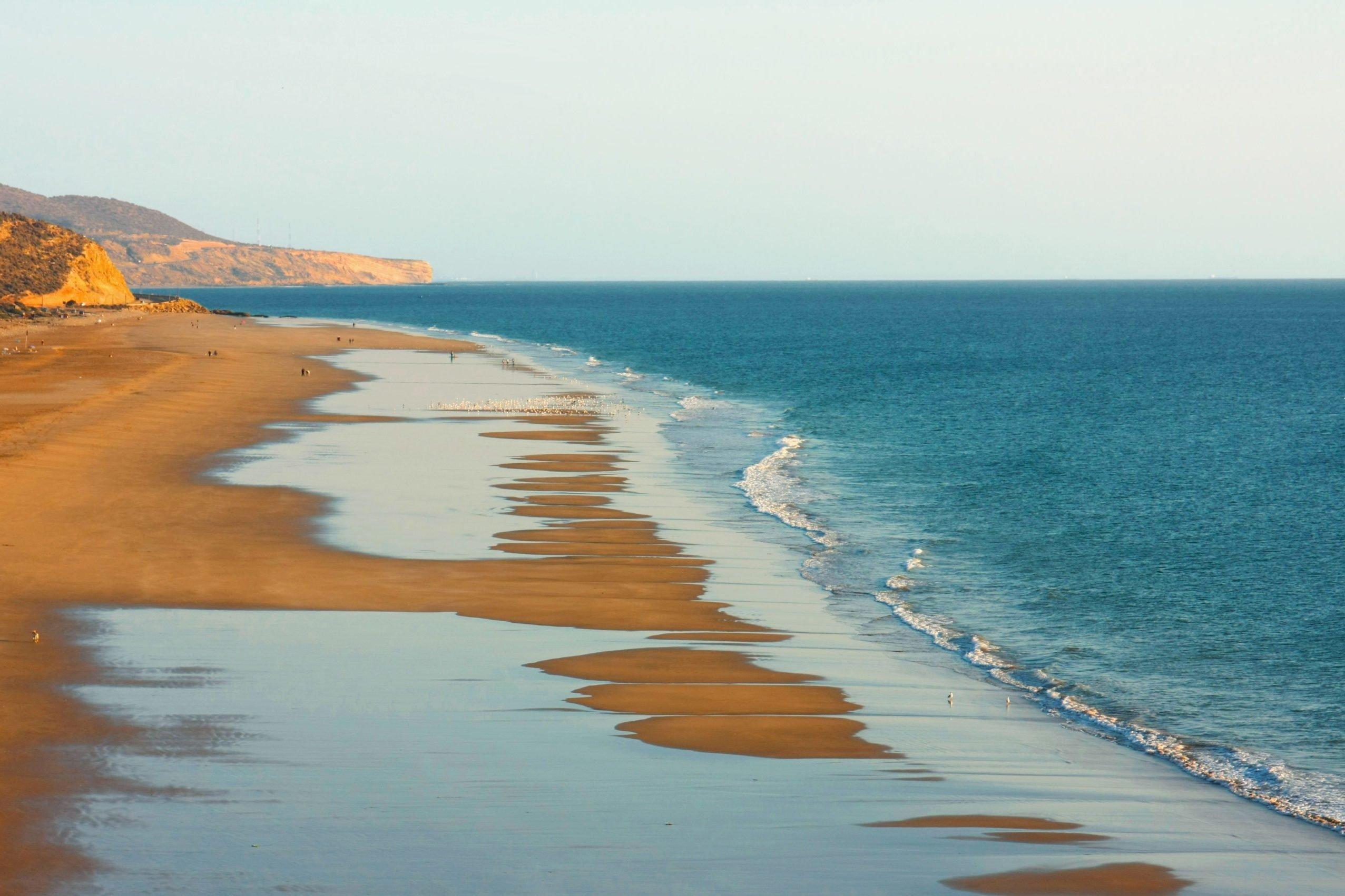 Atlantic Ocean coast, Essaouira Coastal landscape, Morocco.
