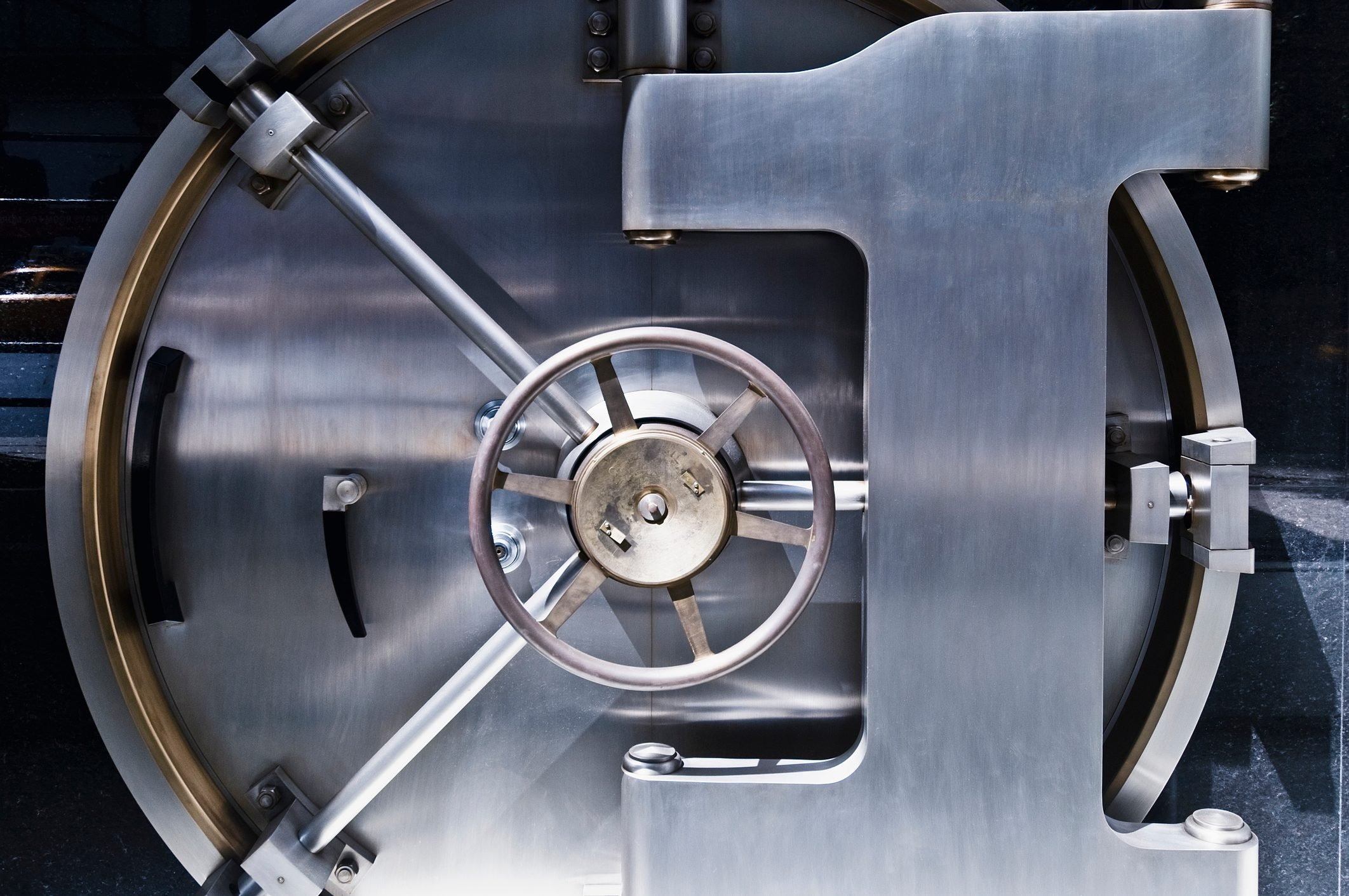 Close up of safe