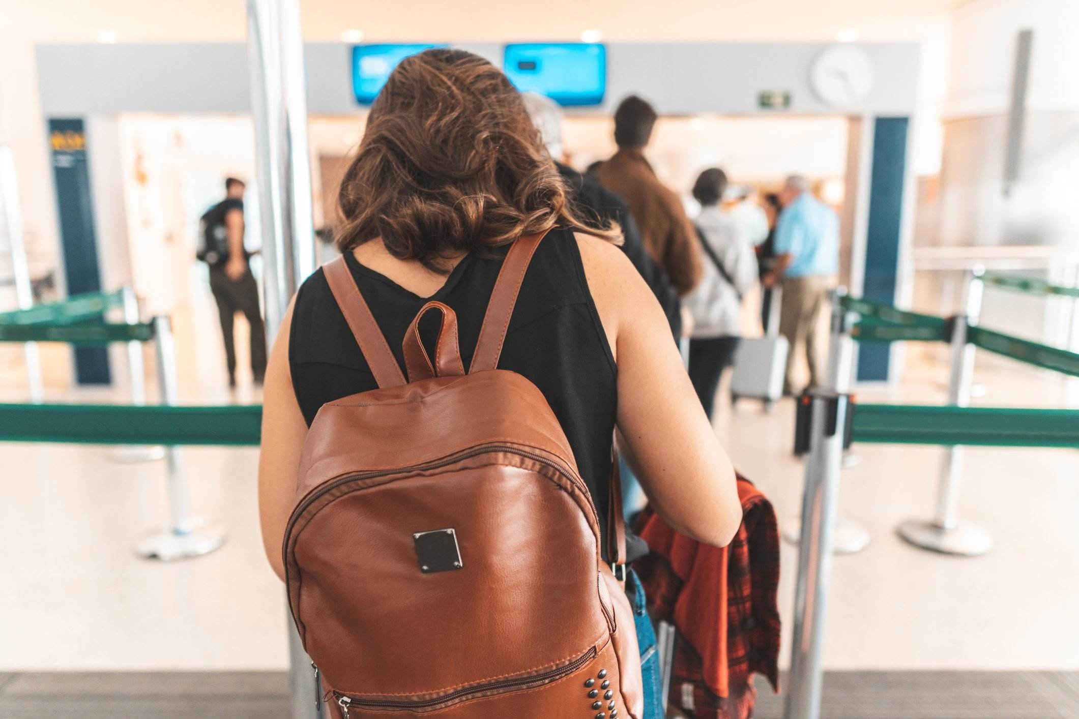 Passengers passing immigration