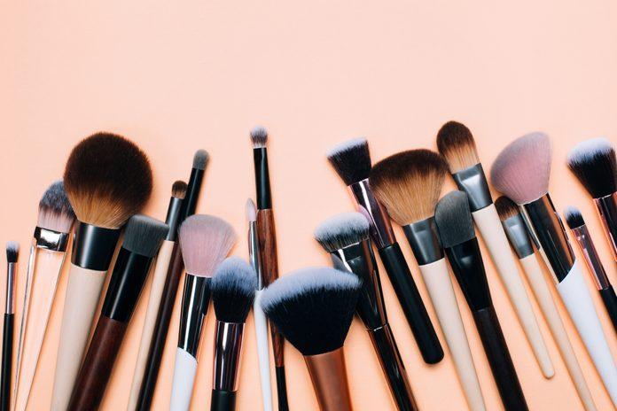 Group of zero waste makeup brushes