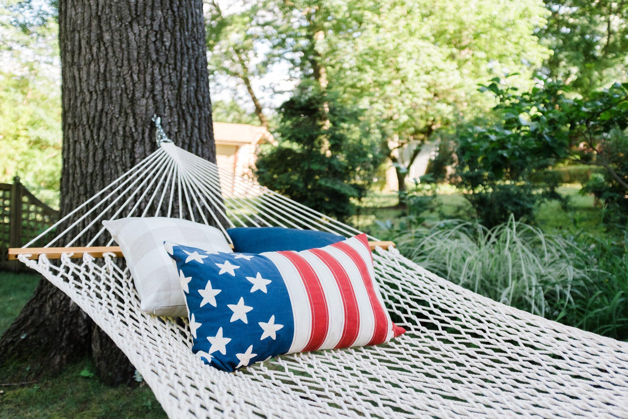 Patriotic hammock
