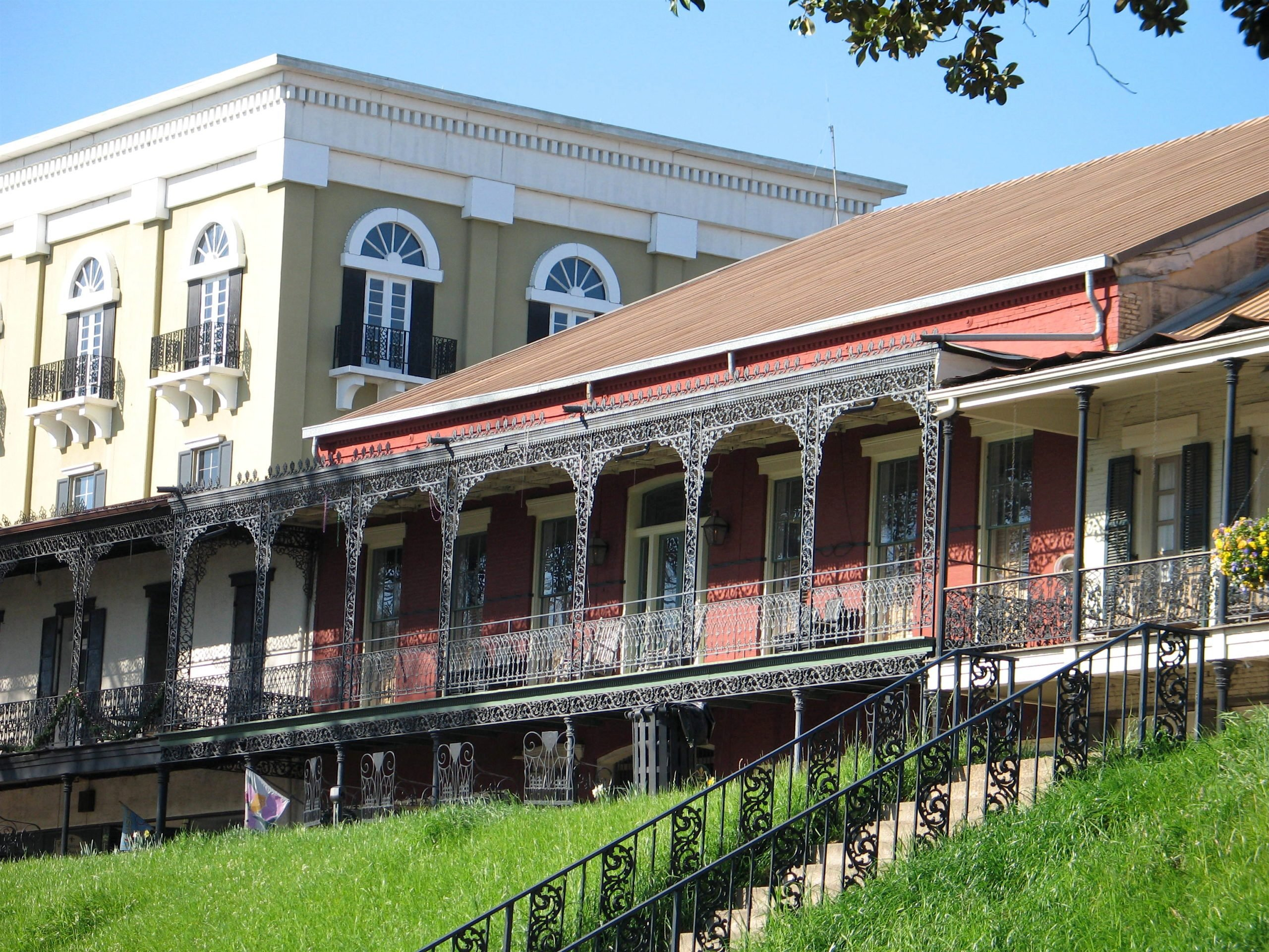 Ornate historic Louisiana buildings in Natchitoches