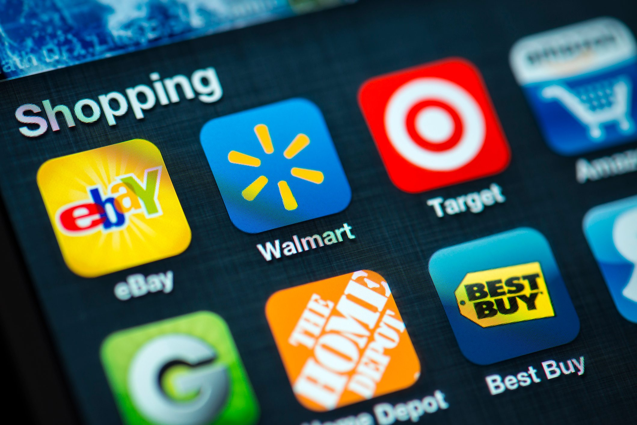 Shopping Apps on Apple iPhone 4s Screen