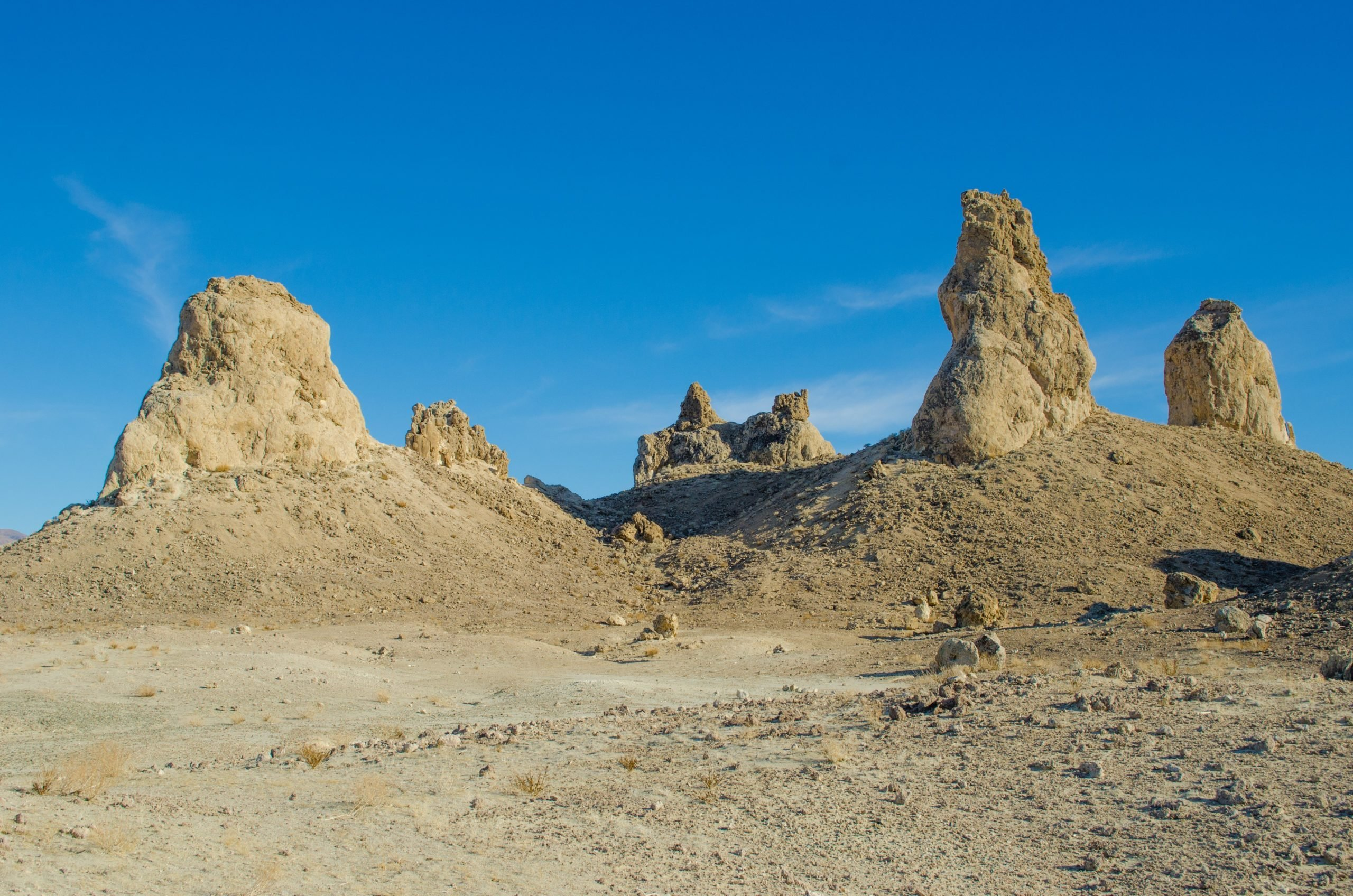 The Trona Pinnacles are tufa formations