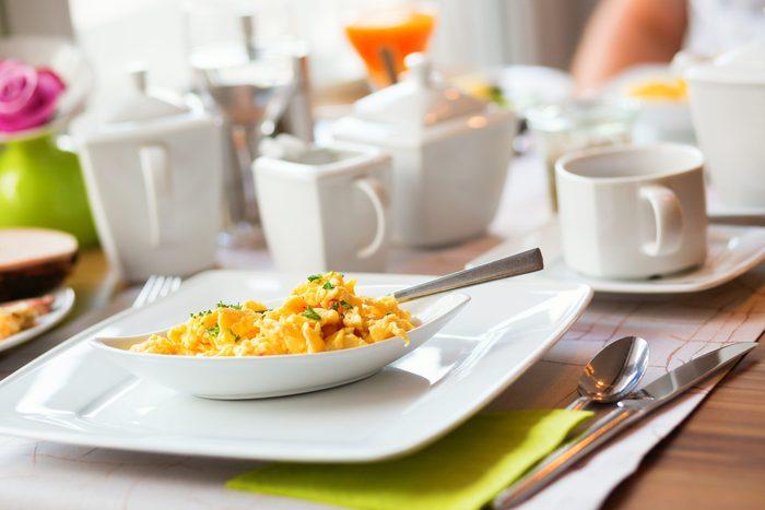 Delicious omelette served for breakfast