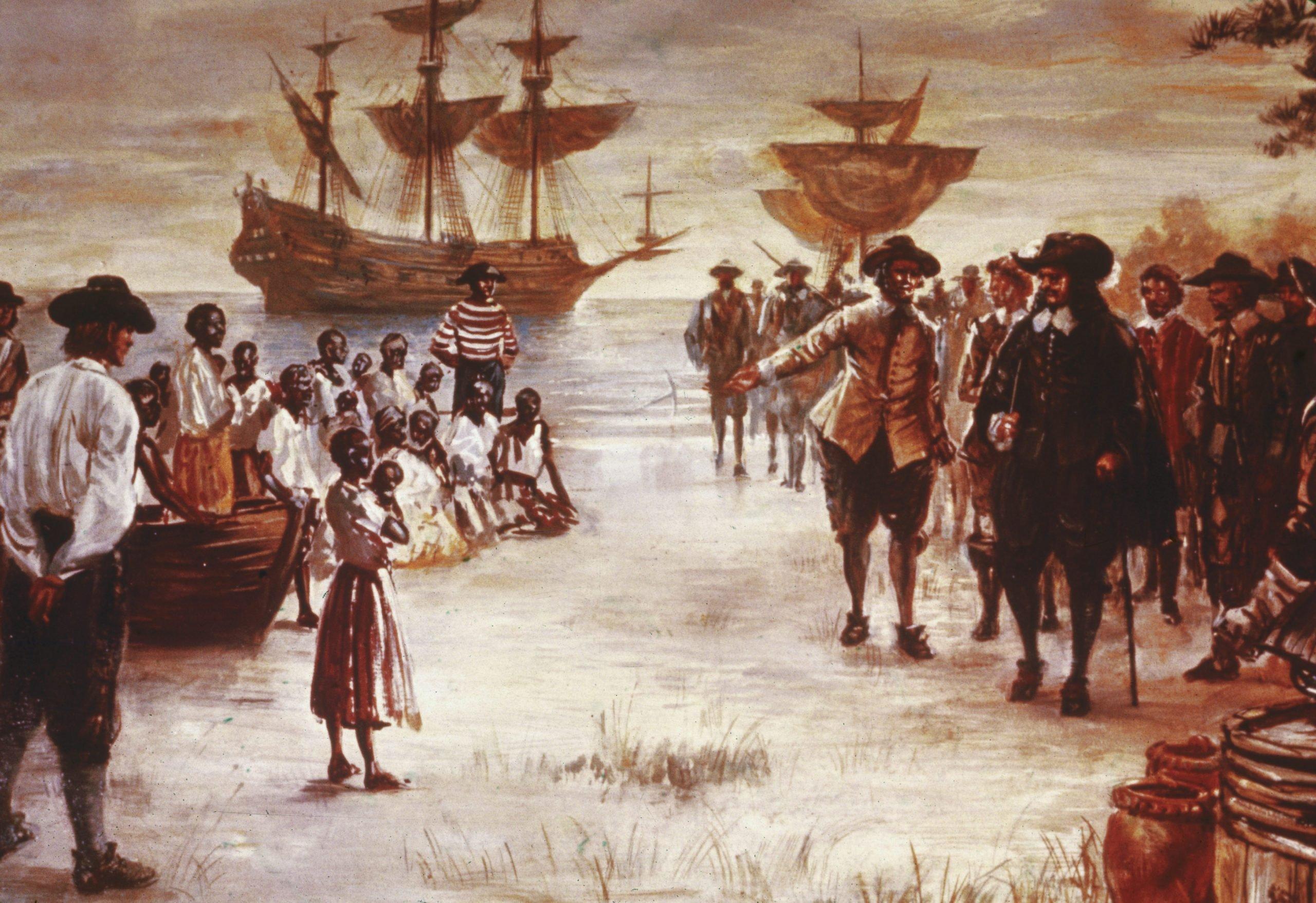 Dutch Slave Ship Arrives In Virginia