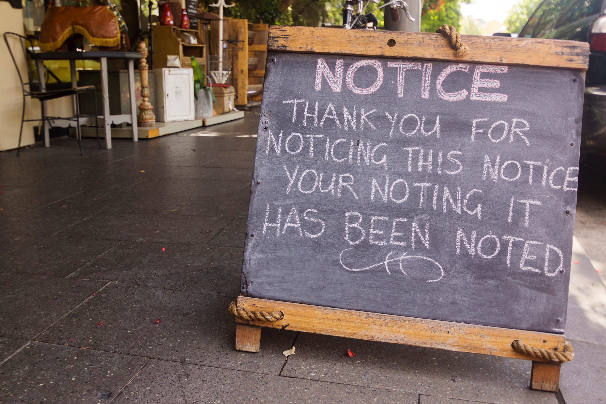 Notice: Thank you for noticing this notice.
