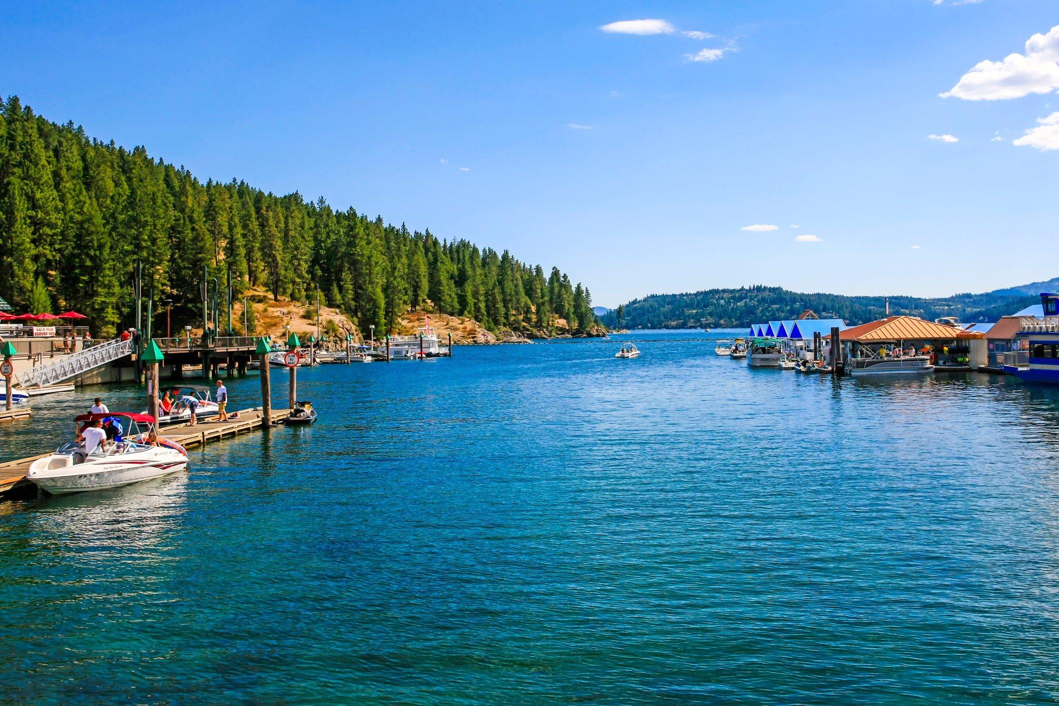 Lake Coeur d'Alene in Idaho