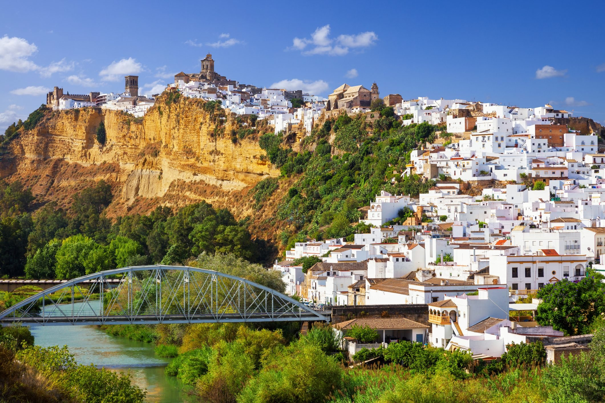 Panoramic of Arcos de la Frontera, Spain