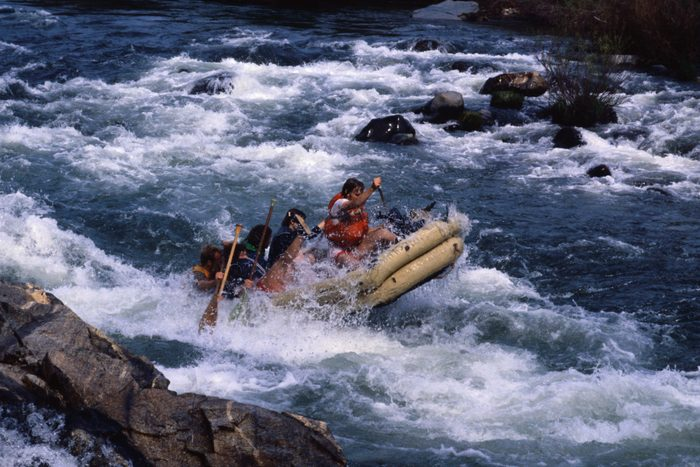 Raft Riders in the Water