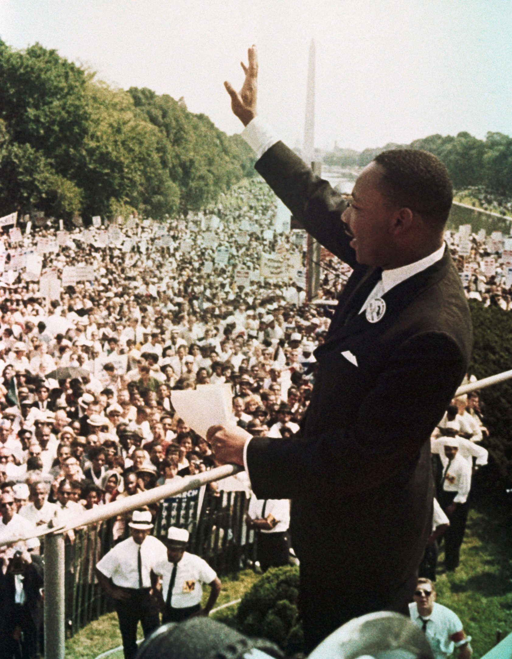 Martin Luther King During the March on Washington