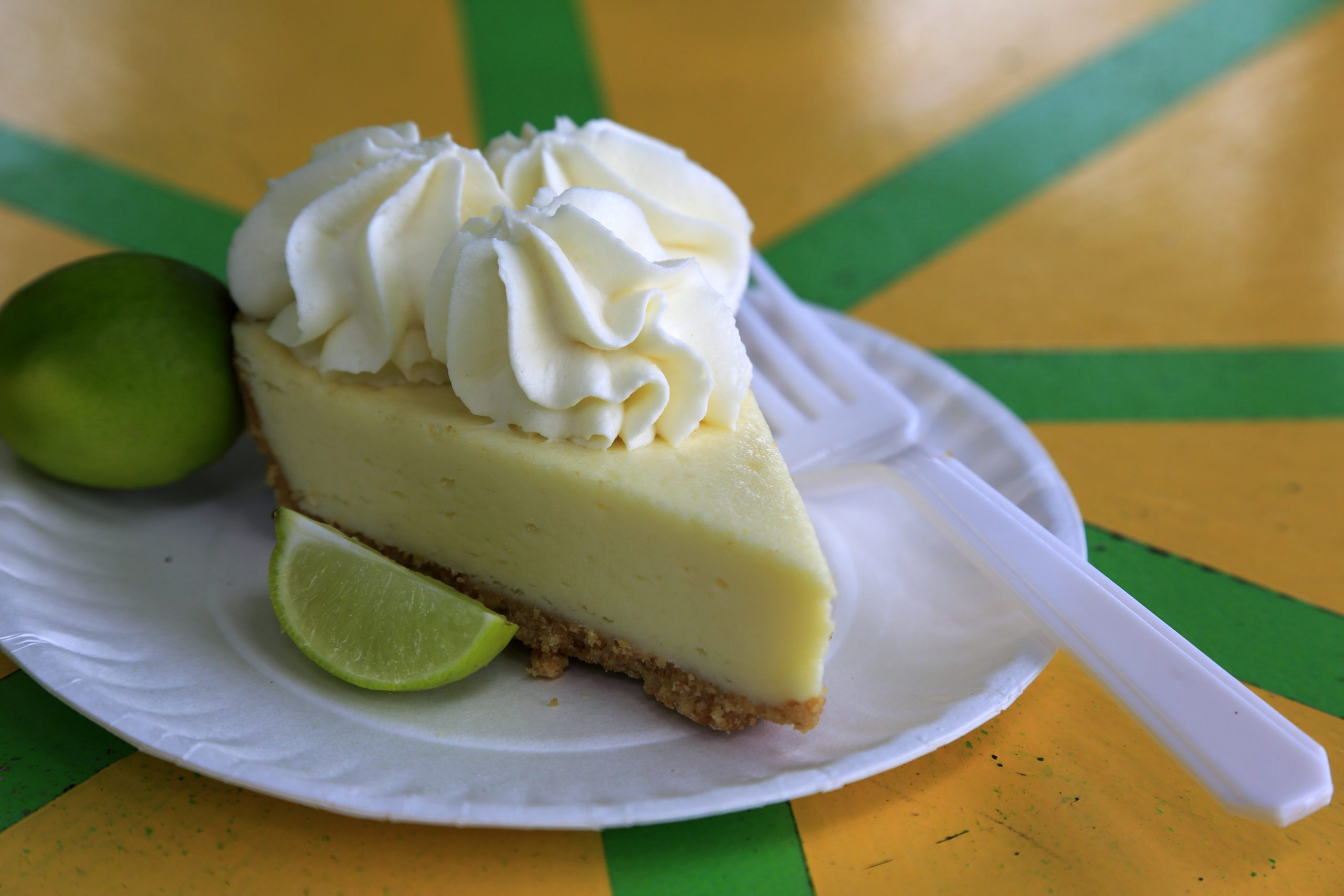 famous Key Lime Pie served in a local restaurant