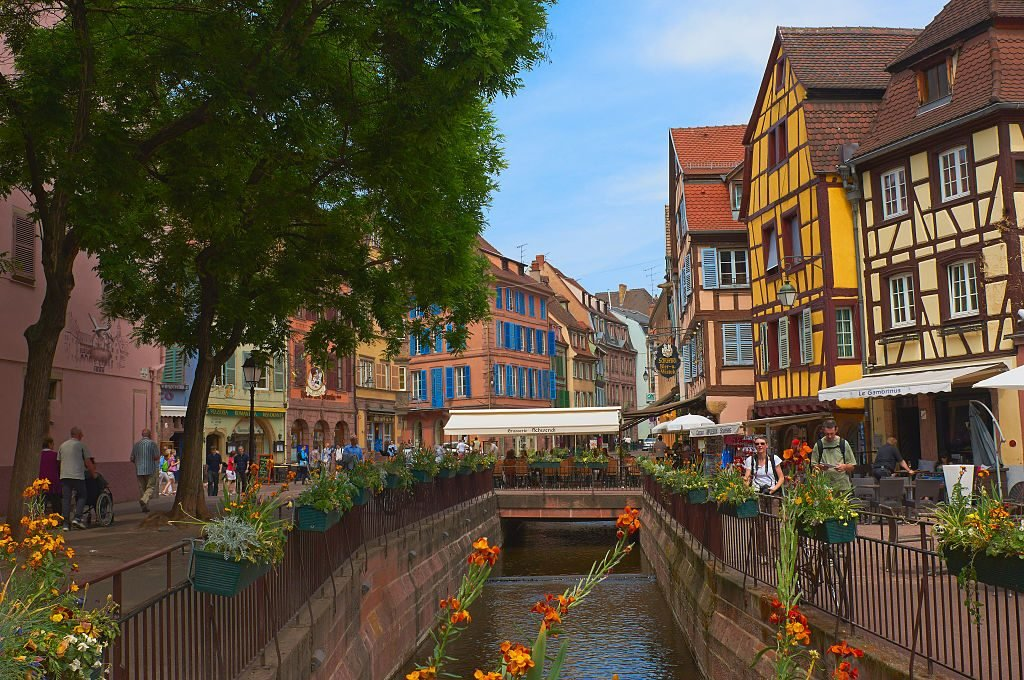 Colmar, Half-timbered Houses, Old Town, Alsace, France