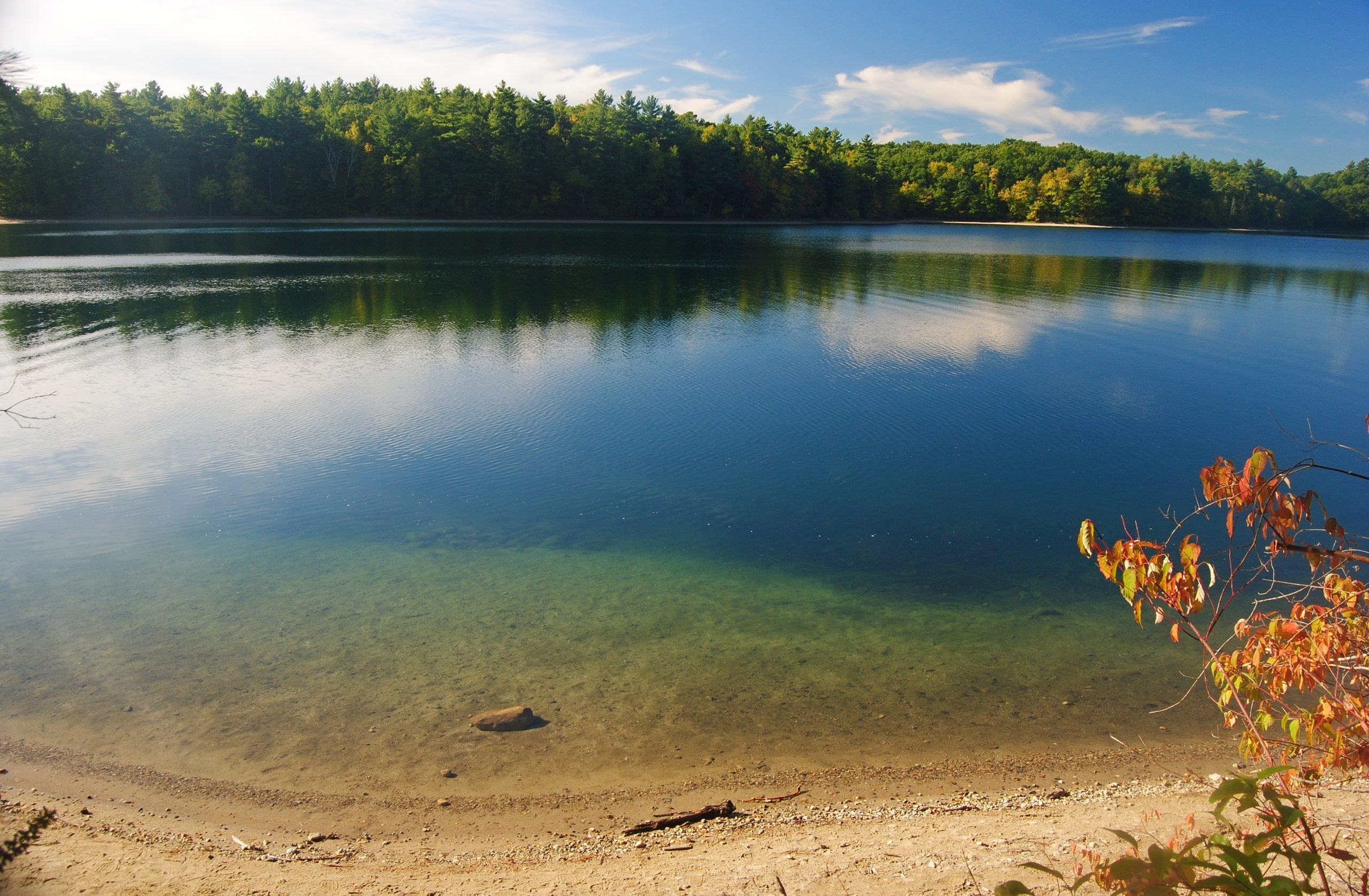 The Walden Pond in Massachusetts, USA.