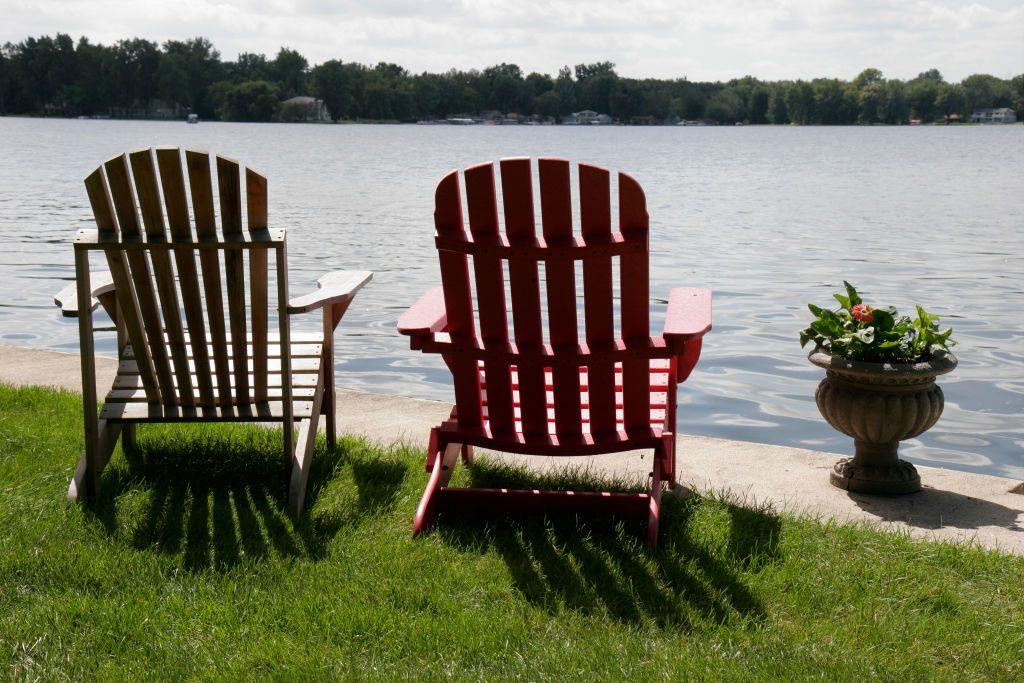 Adirandack chairs on Winona Lake.