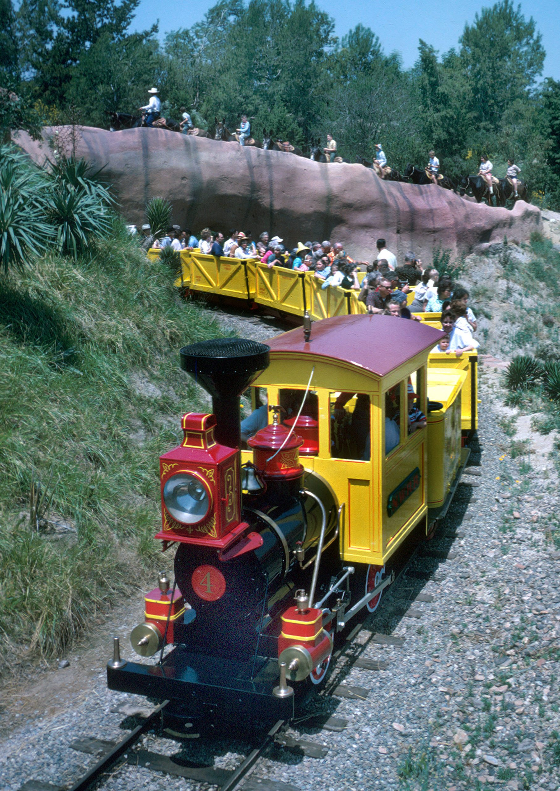 Mine Train At Disneyland