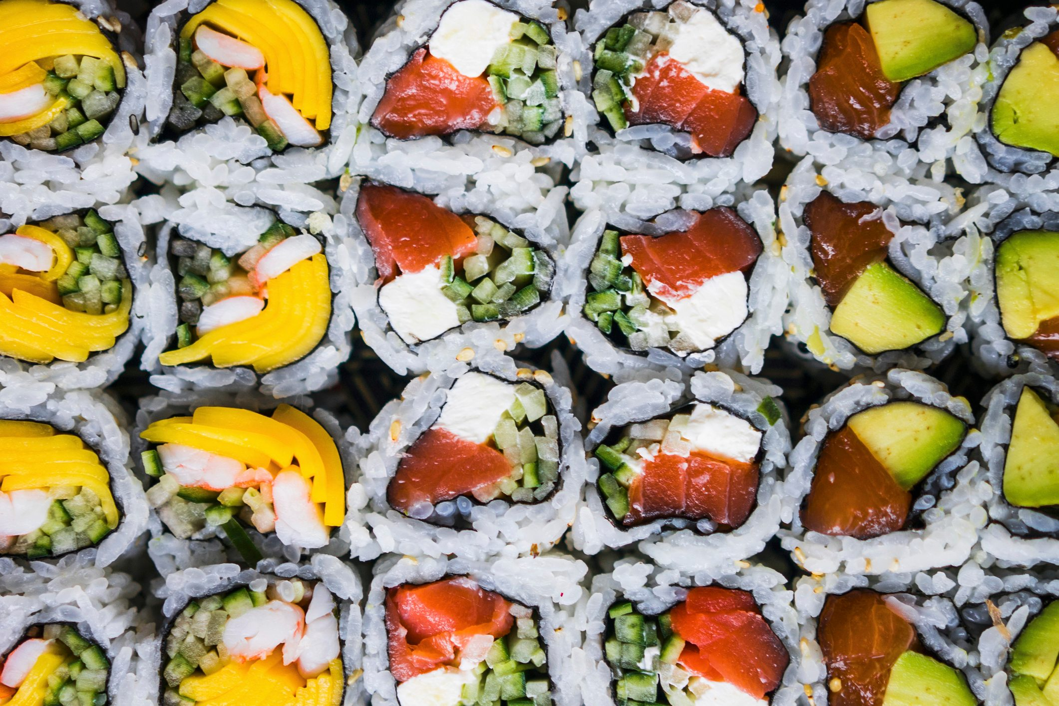 A selection of sushi (full frame)