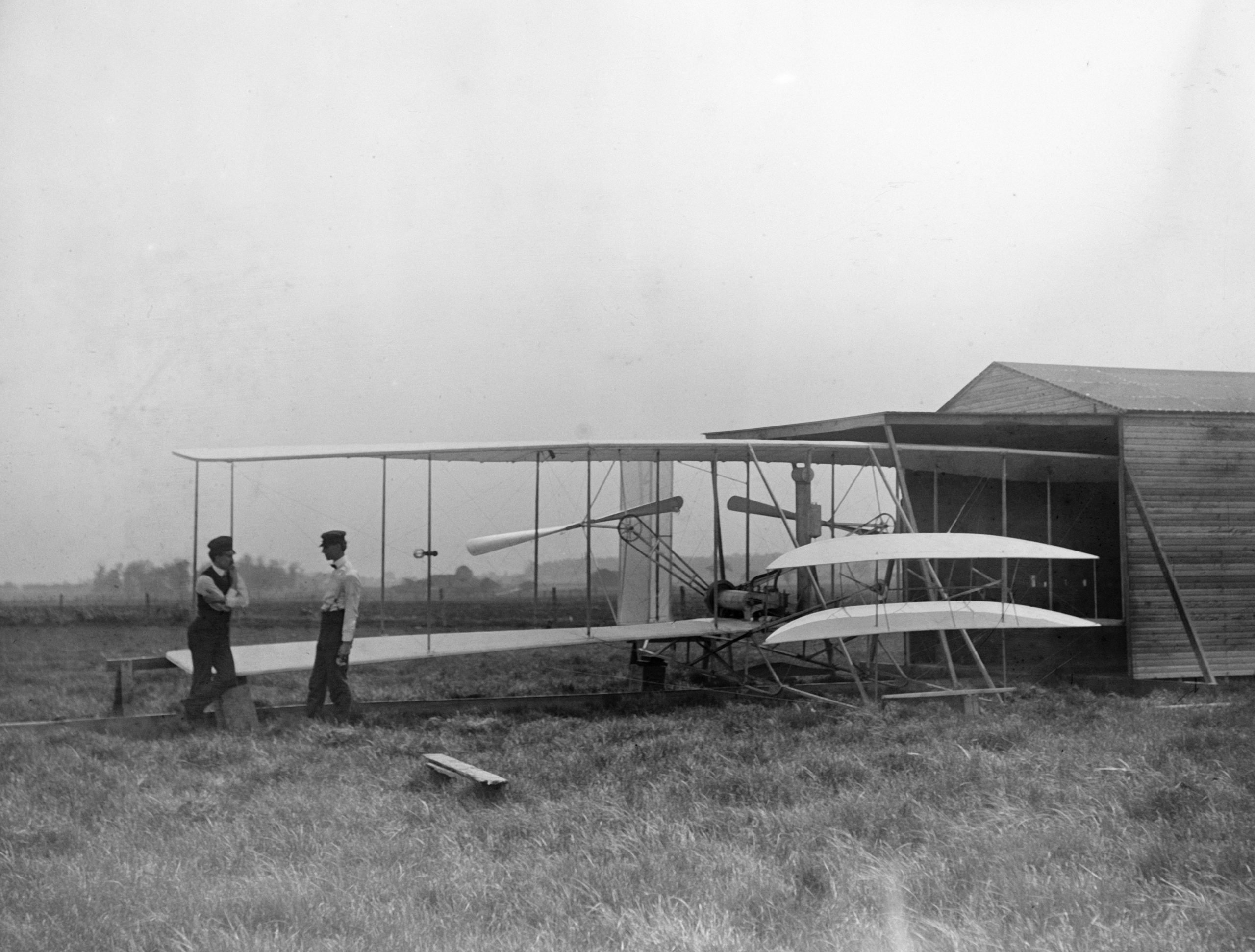 Wilbur and Orville Wright with Their 2nd Powered Machine
