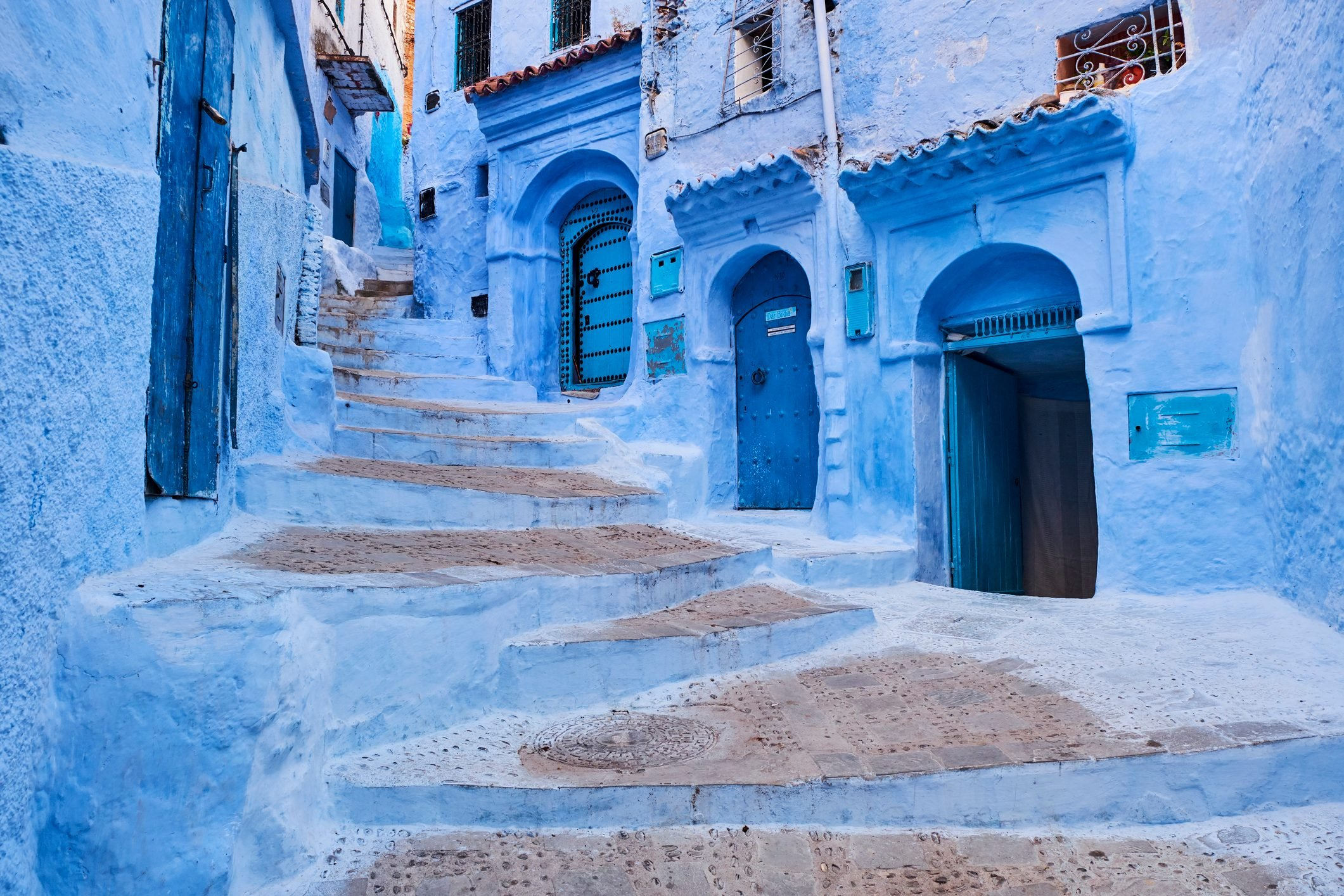 Morocco, Rif area, Chefchaouen (Chaouen) town, the blue city