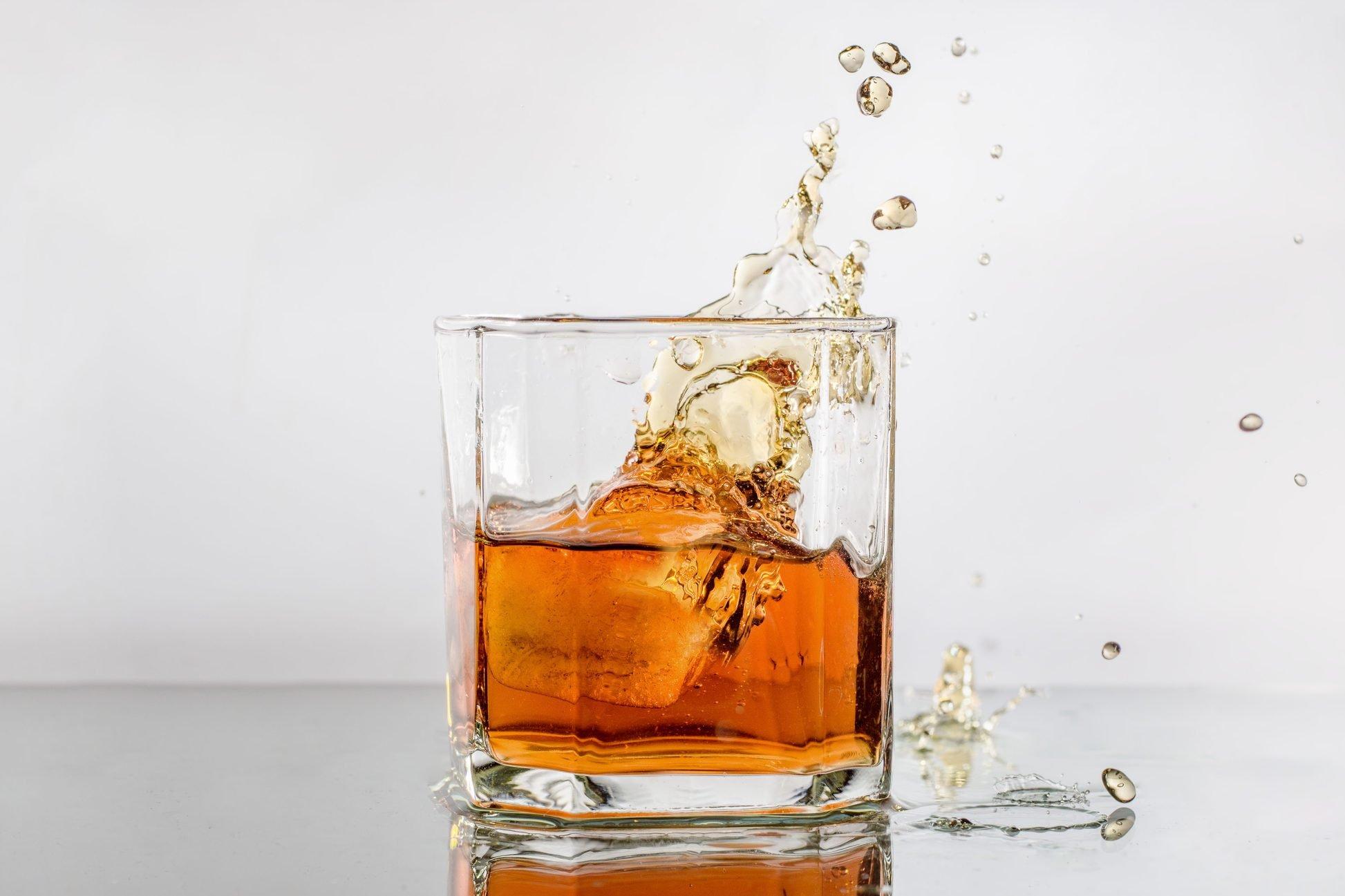 A splash of whiskey