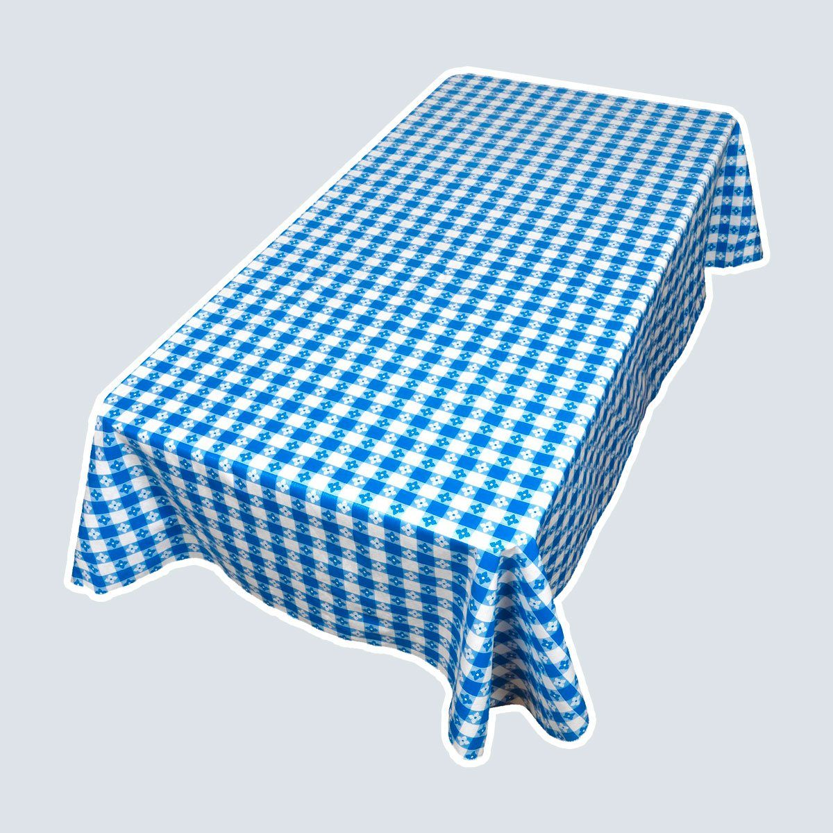 Picnic Check Blue Tablecloth