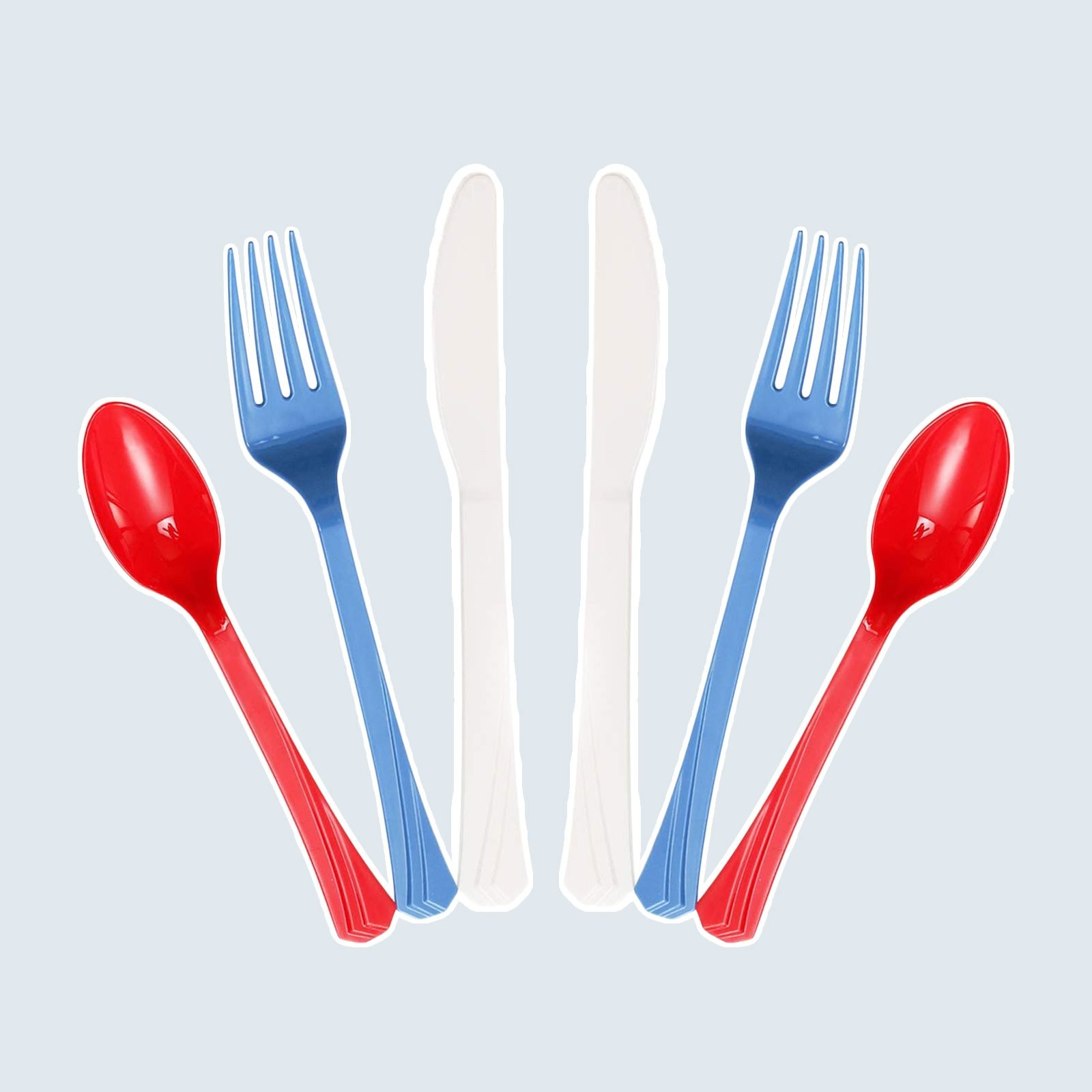 Red, White, And Blue Cutlery