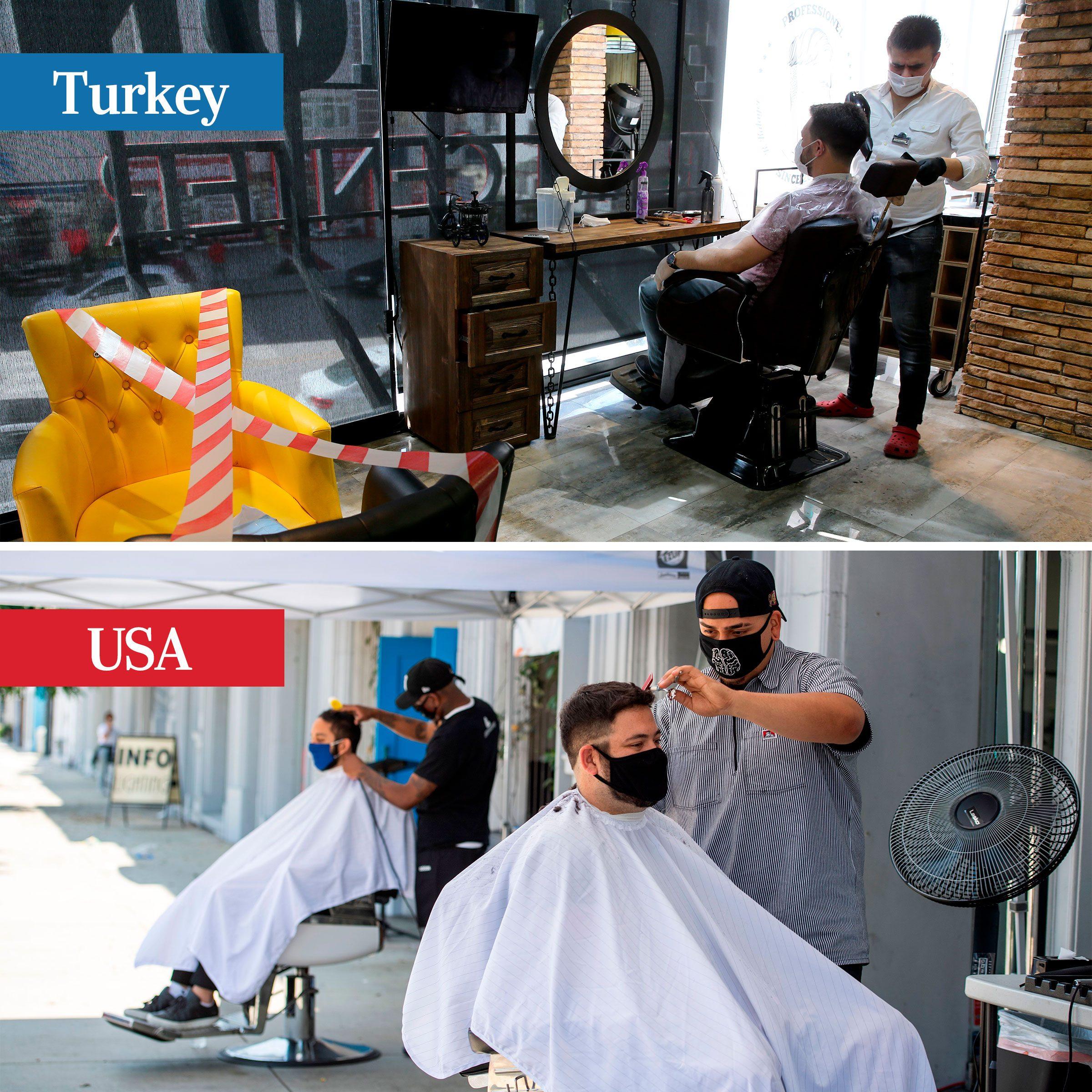 turkey vs usa - barbershops