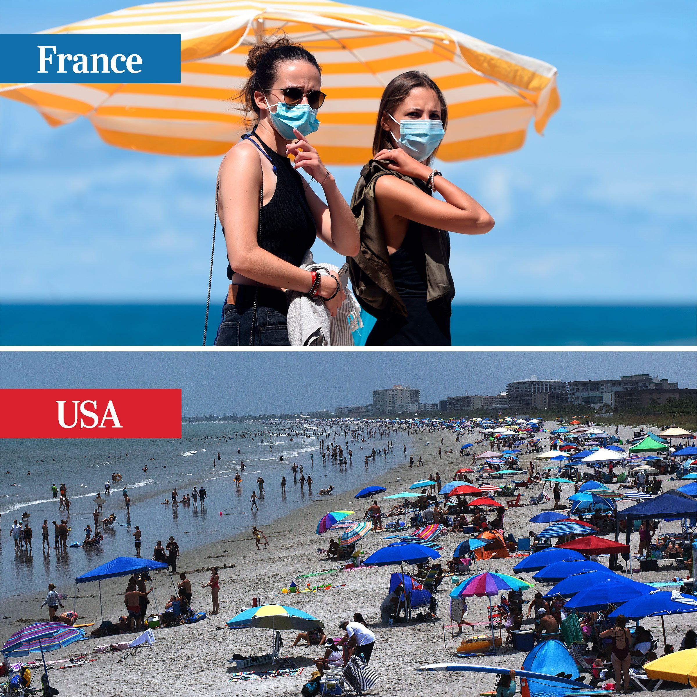 france vs usa - beaches