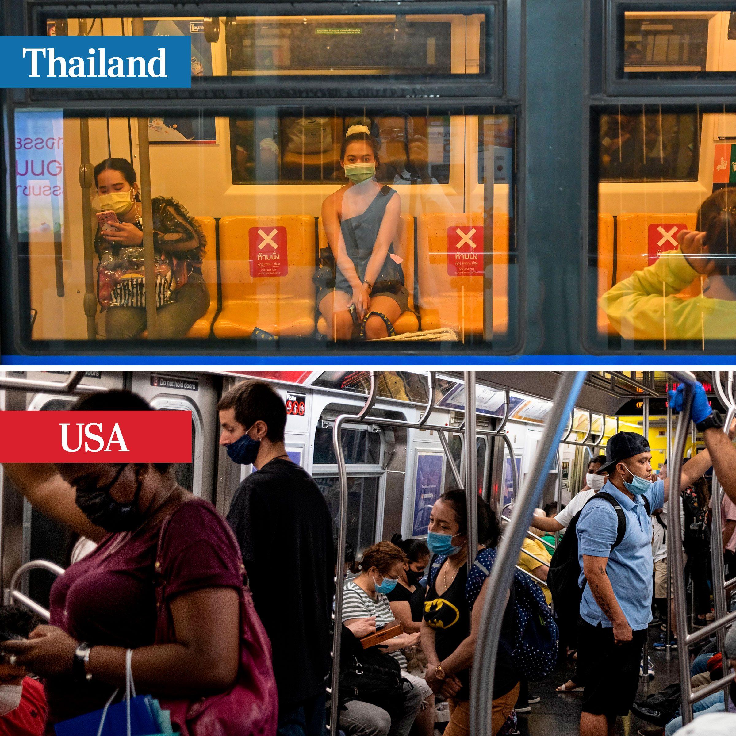 thailand vs usa - public transportation