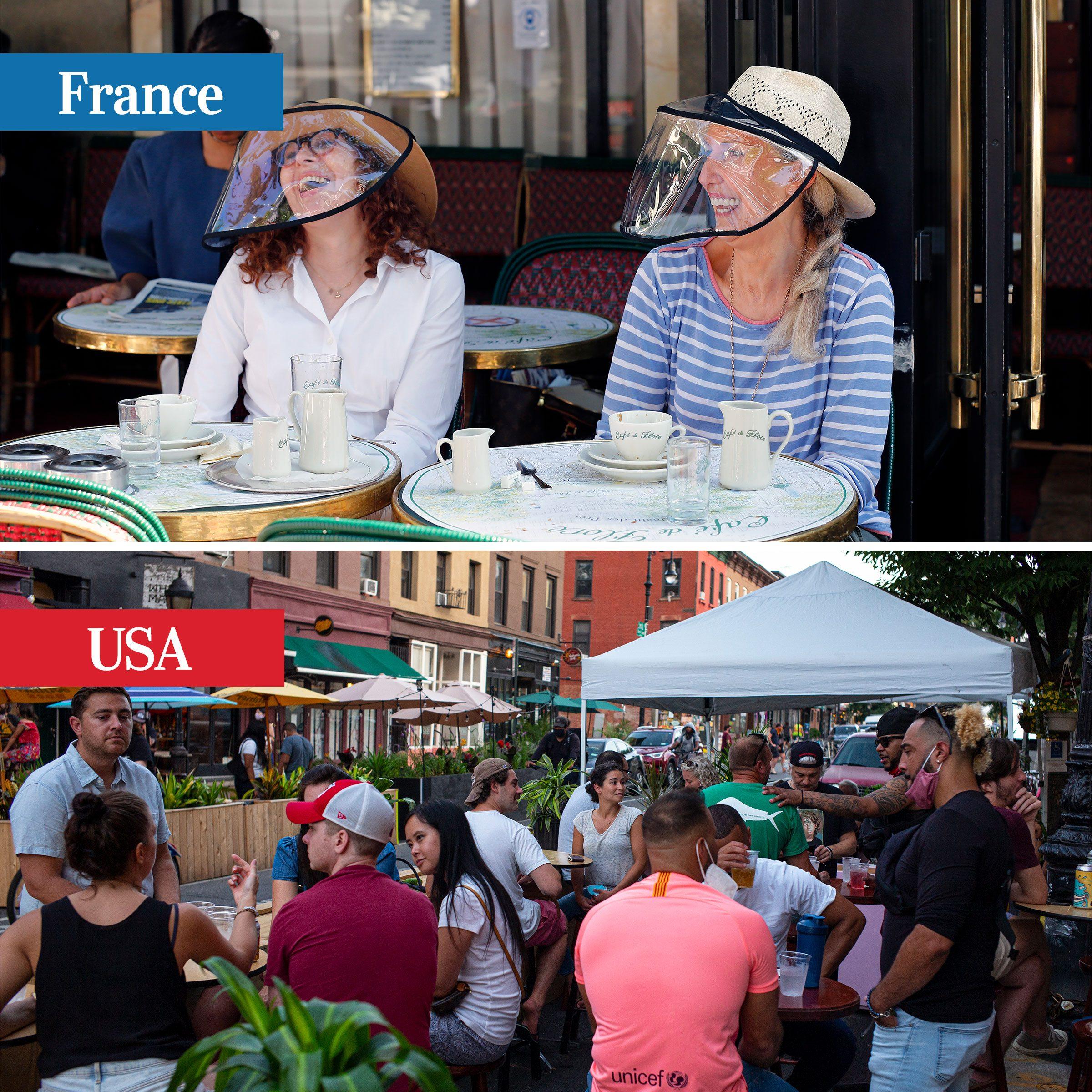 france vs usa - restaurants