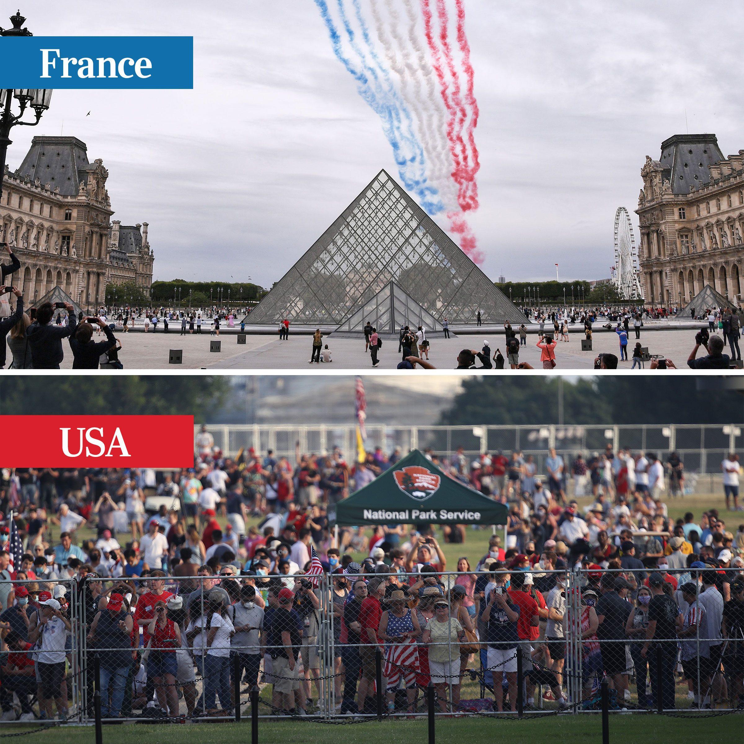france vs usa - summer holidays