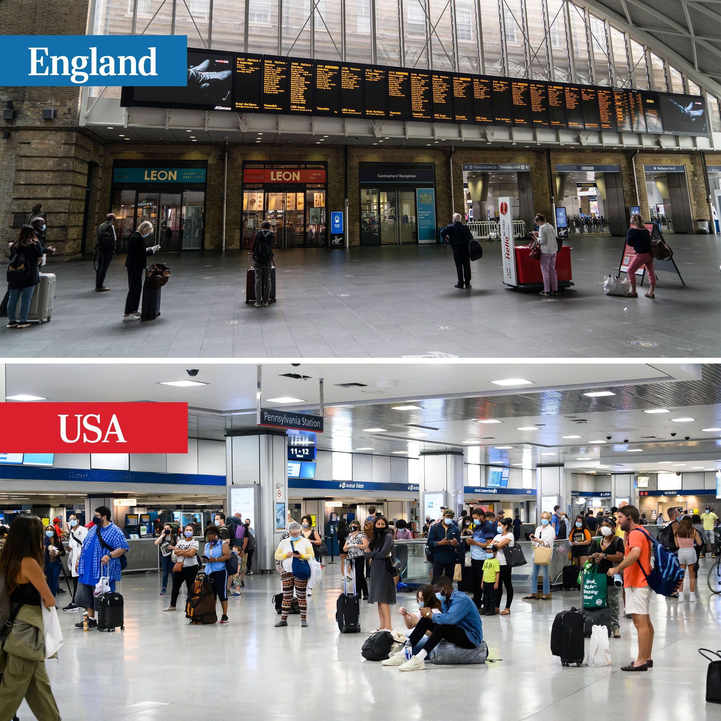 england vs usa - train travel