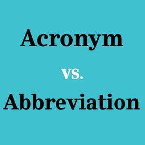 <h4></noscript>Acronym vs. Abbreviation: What's the Difference?</h4>