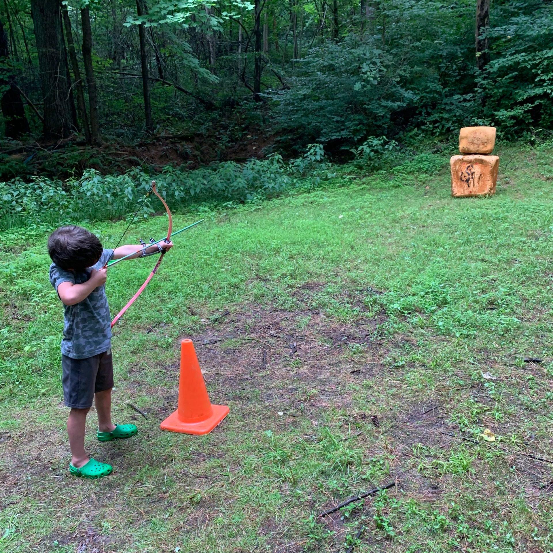 Rebecca Meiser camping archery