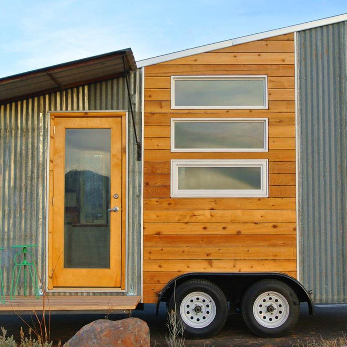 Tiny home built with recycled material
