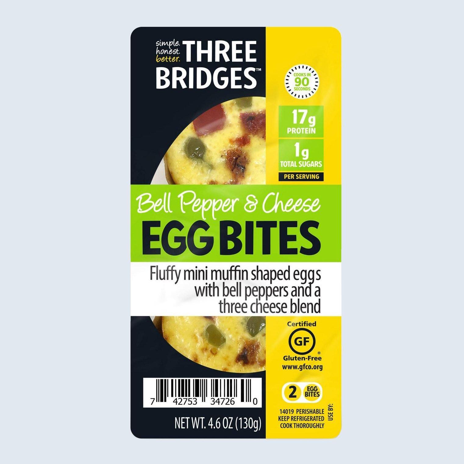 Three Bridges Bell Pepper & Cheese Egg Bites