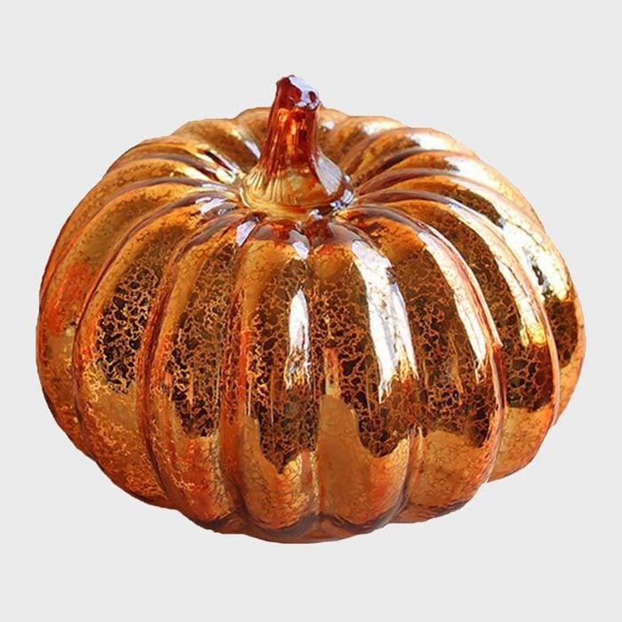 Glass Pumpkin Halloween Decoration