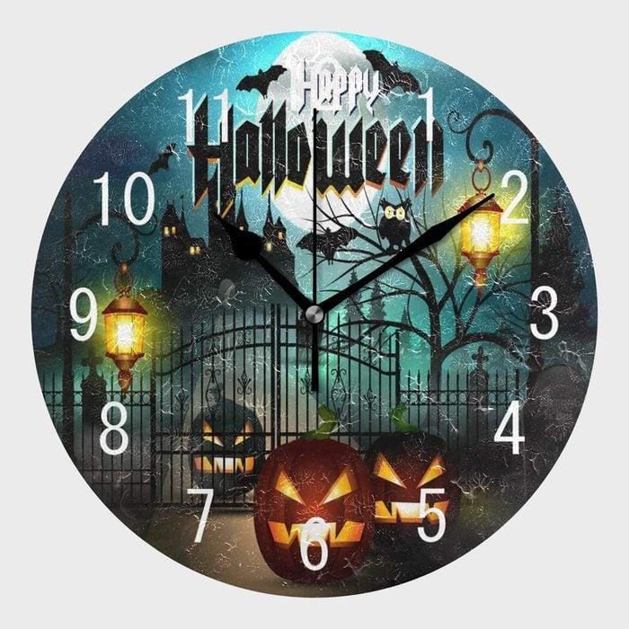 Halloween Wall Clock Halloween Decoration