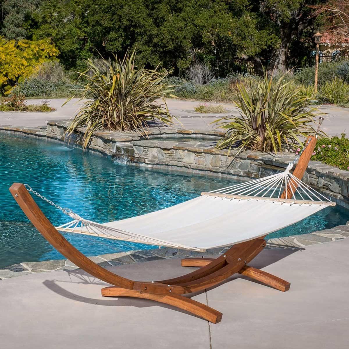 Hammock by a pool