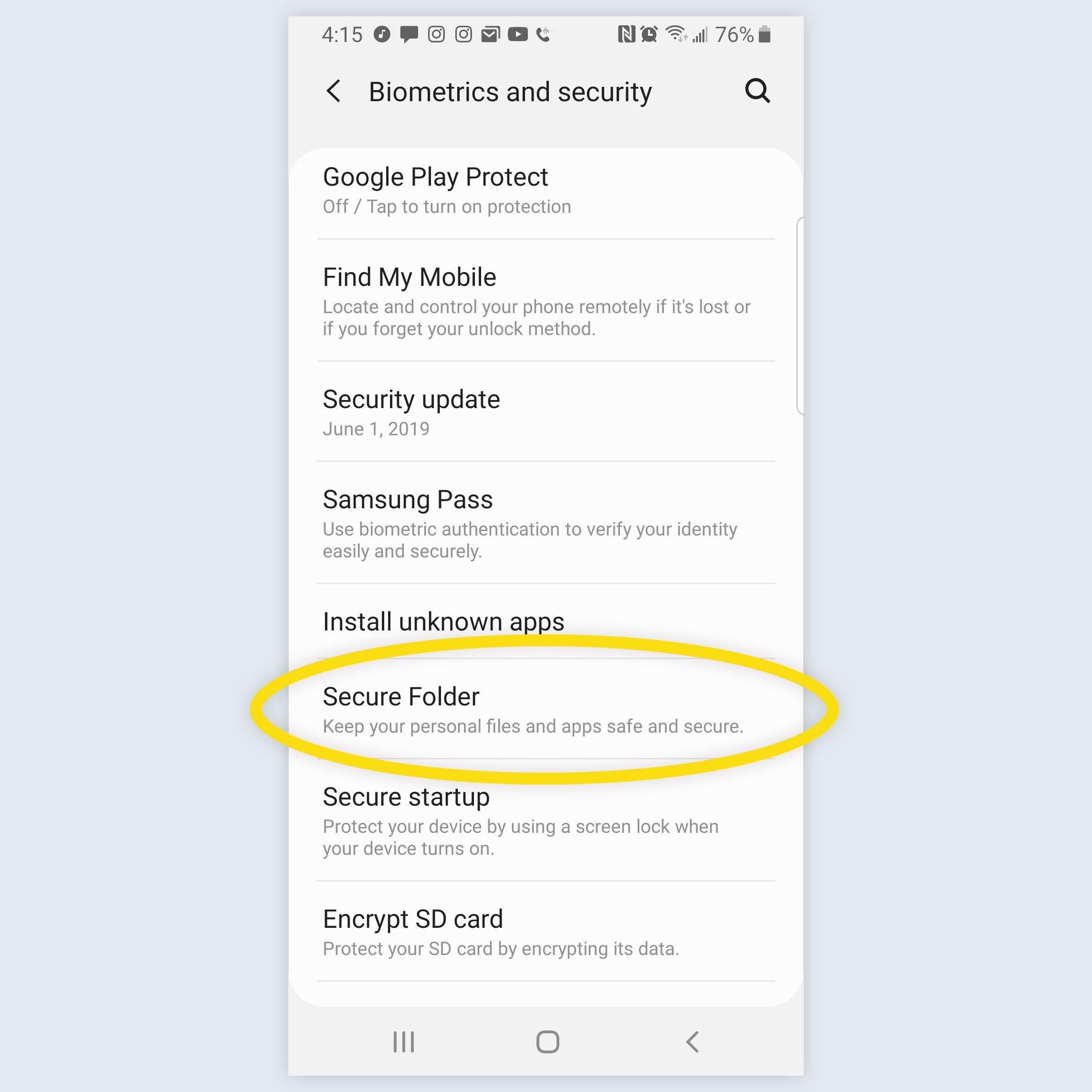 android galaxy screenshot