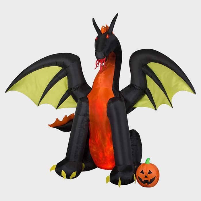 Inflatable Fire Breathing Dragon Halloween Decoration