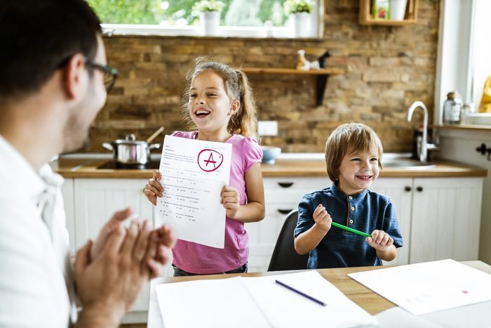 Look daddy, I've got an A on my exam!
