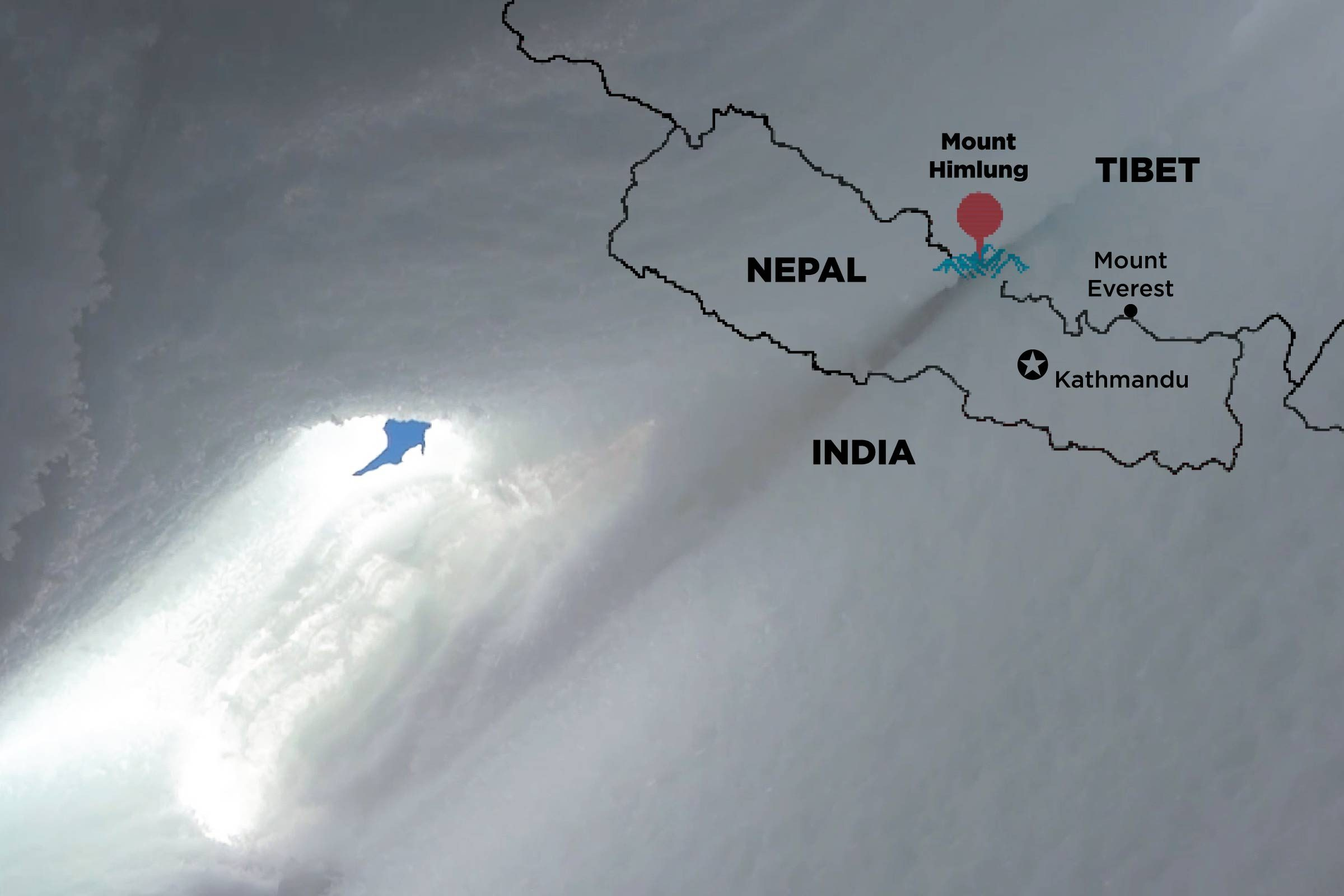 map of Mount Himlung