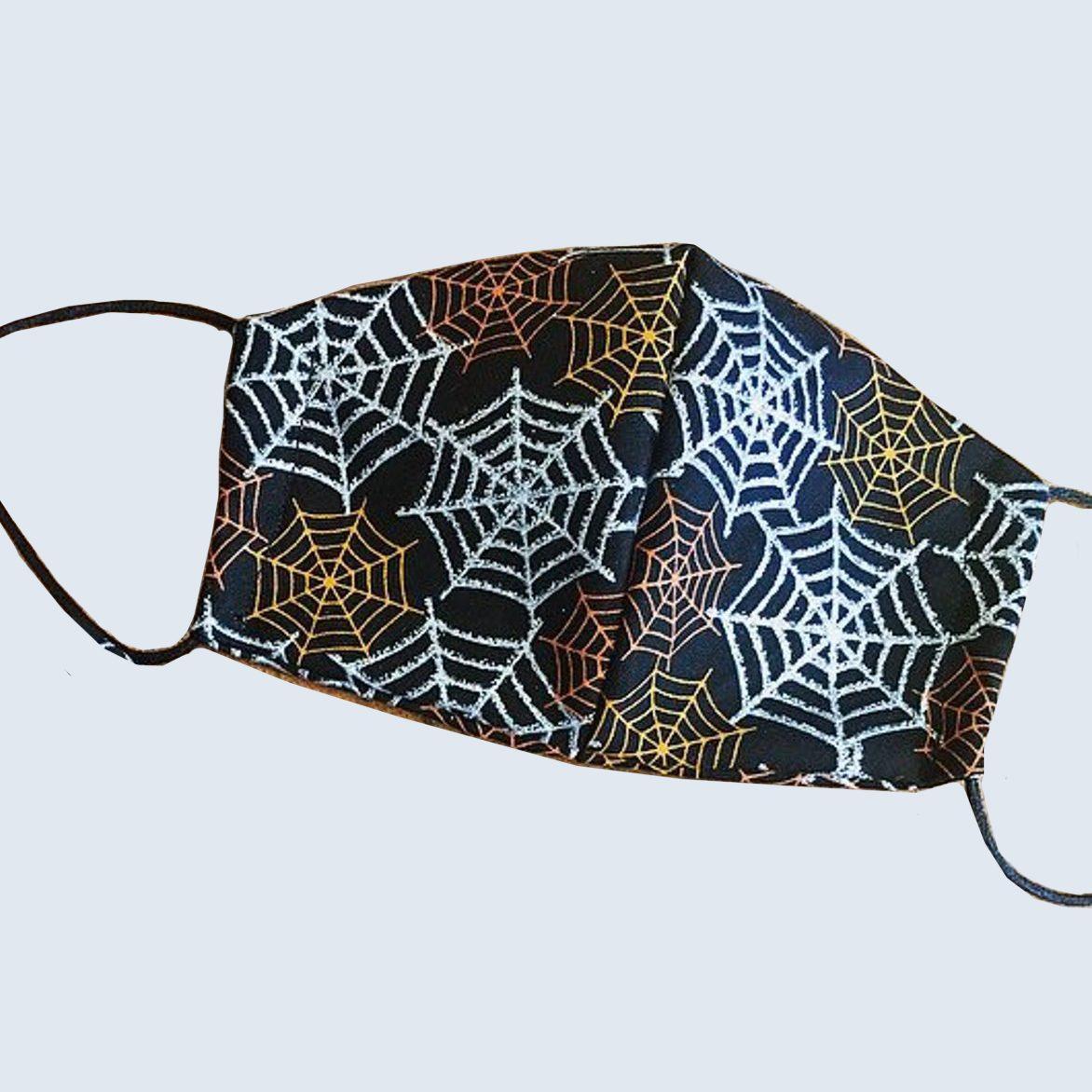 Sparkling spider web mask and scrunchie