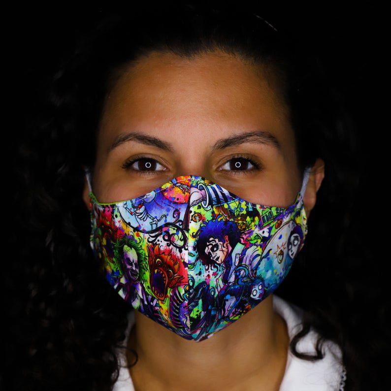 Tim Burton mashup mask