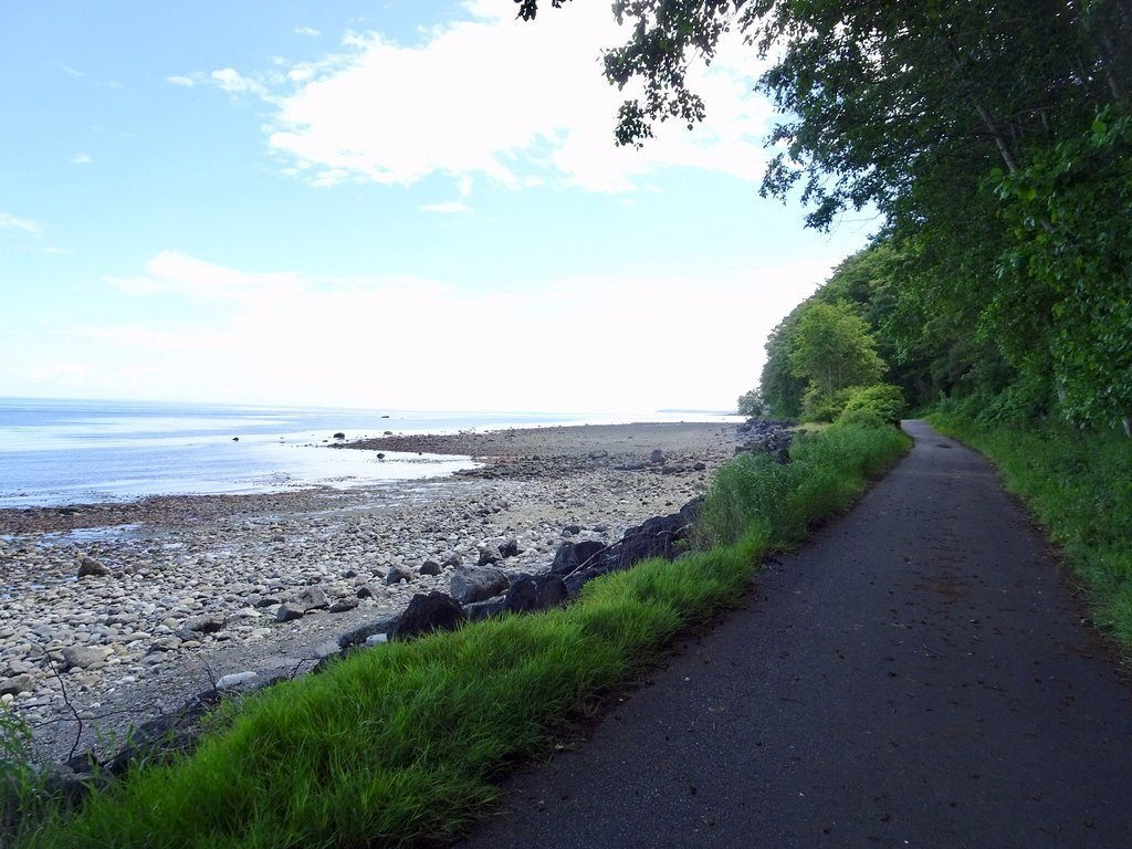 Coastal bike path